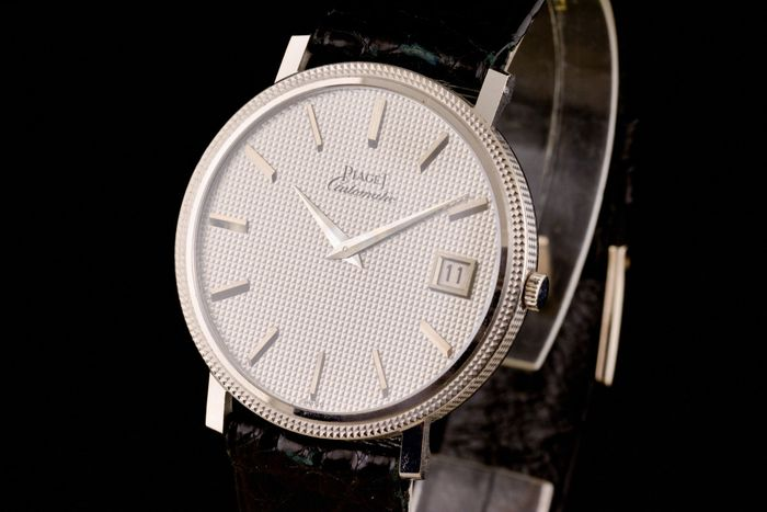 Piaget - 18K White Gold Automatic Slim - 13604  - Herre - 1990-1999
