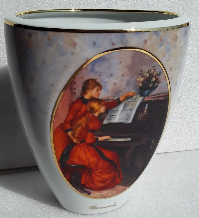 "Goebel - Artis orbis - Vase A.Renoir ""young girls at the piano"" limited numbered 2150/3000 - porcelain"