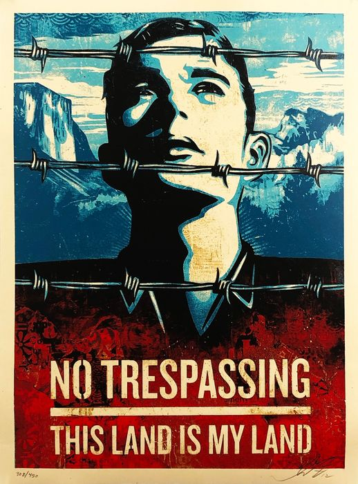 Shepard Fairey (OBEY) - 'This Land is Your Land'