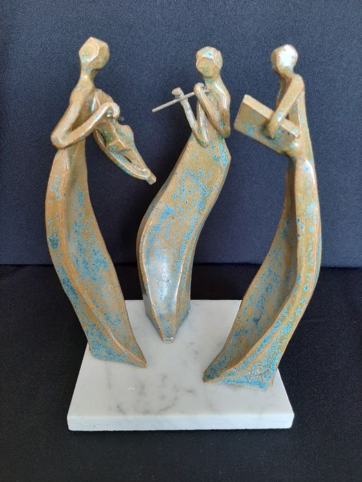 Anonymous - Sculpture, Three Musicians