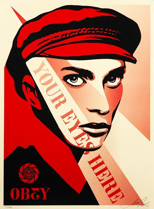 Shepard Fairey (OBEY) - 'Your Eyes Here'