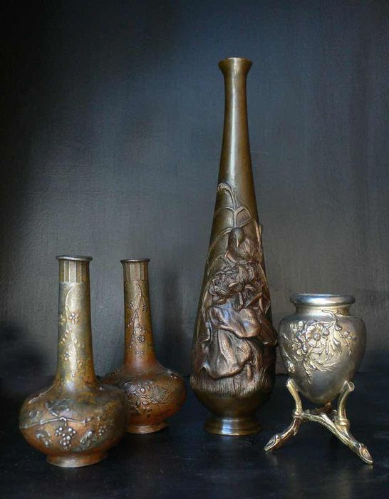 Vases soliflores - Japonism and Art Nouveau style