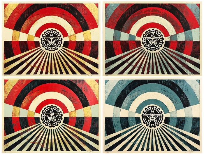 Shepard Fairey (OBEY) - 'Tunnel Vision' (ALL 4)