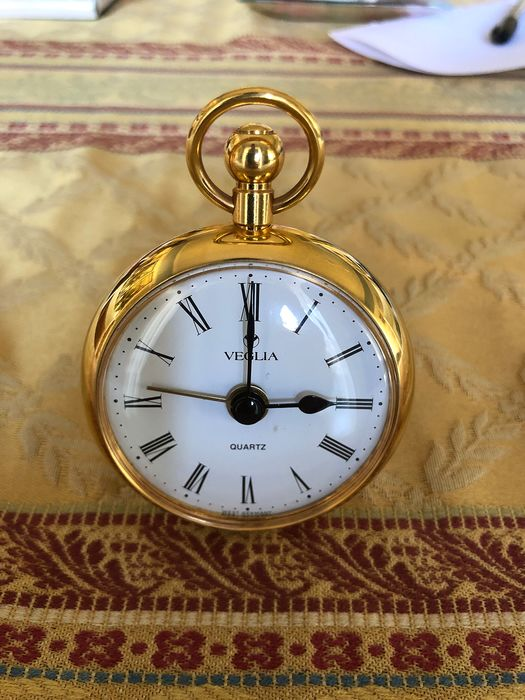 Alarm clock - Veglia - gold - Late 20th century