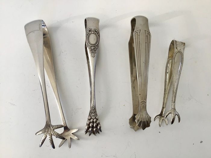 antique sugar tongs (4) - Silverplate