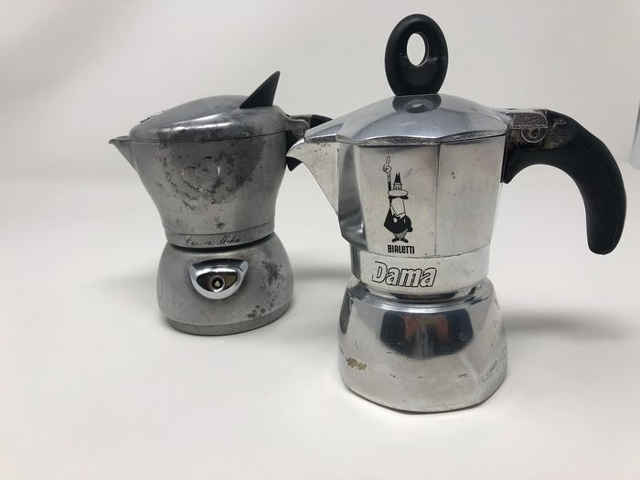 Espresso Coffee Makers (2) - Aluminium, Rubber