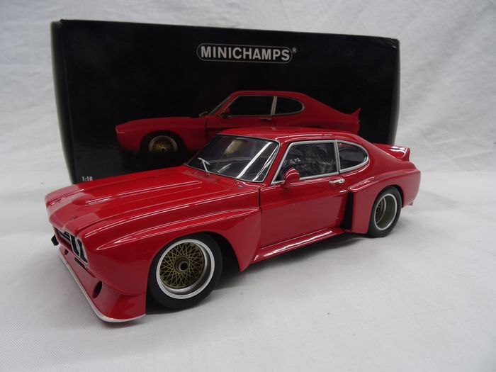 MiniChamps - 1:18 - Ford Capri RS 3100 1974 - Color red