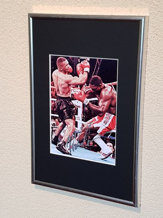 USA - Boxing - Mike Tyson  - hand signed framed photograph