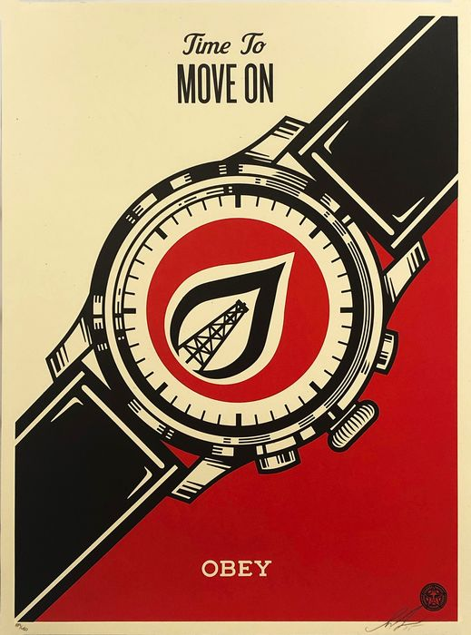 Shepard Fairey (OBEY) - 'Time to Move On'