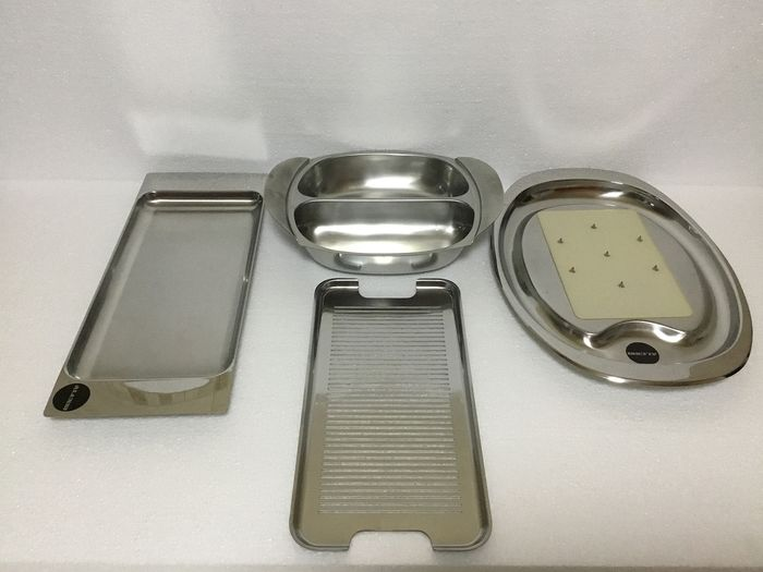 Alessi, Alfra/Alessi - Tray (4) - Steel (stainless)
