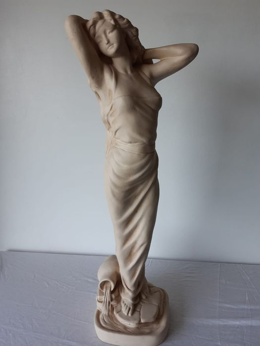 Sculpture, a sensual lady - 68 cm (1) - Plaster - mid 20th century