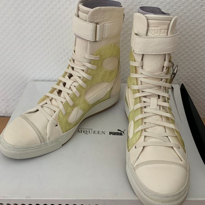 Alexander MqQueen - New  -  LIMITED EDITION - Leather - HiTop Shoes - Size: 37eu ( 4 uk )