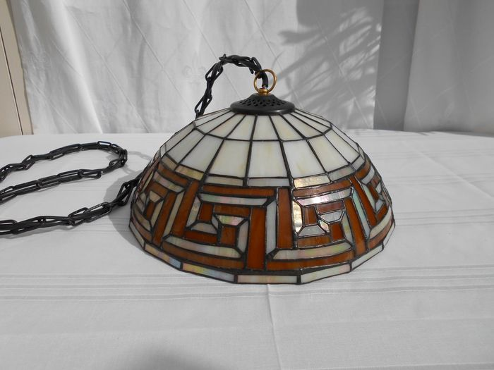Lamp (1) - Glass (stained glass)