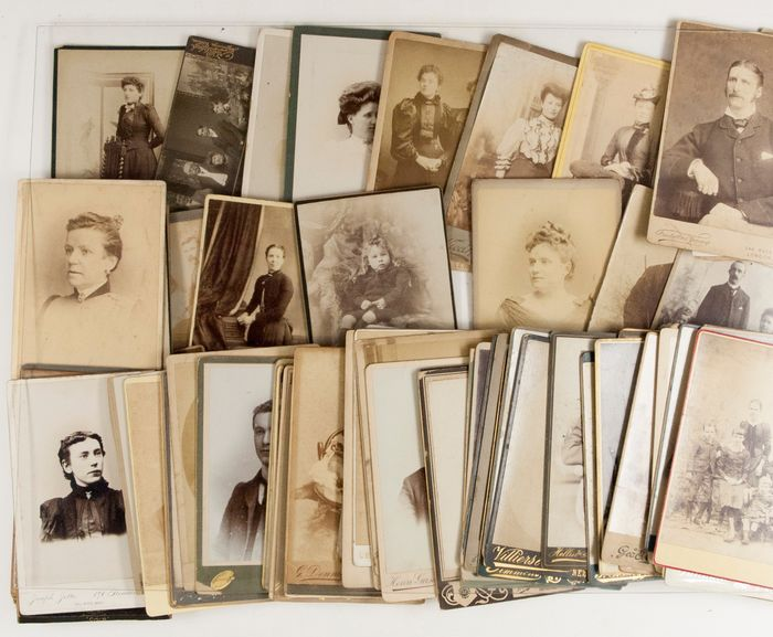 Various - Collection of 85 cabinet cards