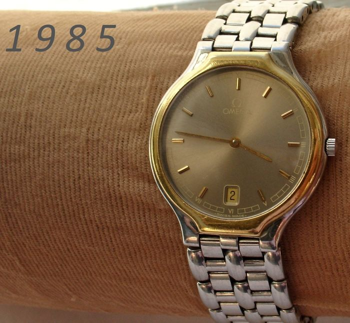 "O M E G A '85 - Type  De Ville - Bi-Color - Dresswatch - ""NO RESERVE PRICE""  - Men - 1980-1989"