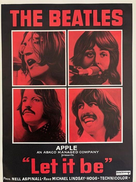 """Apple corps - The Beatles """"Let It Be' - 1970"""