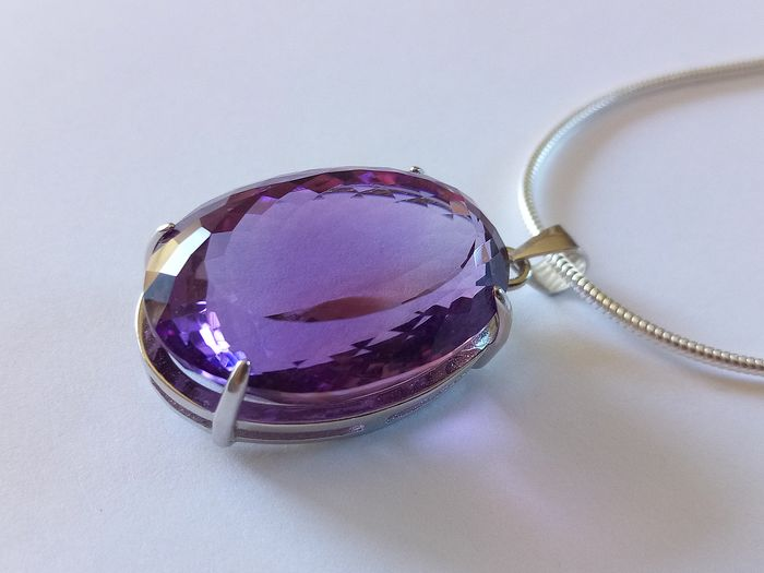 Gem4You - Mixed Silver - Pendant - 30.28 ct Amethyst