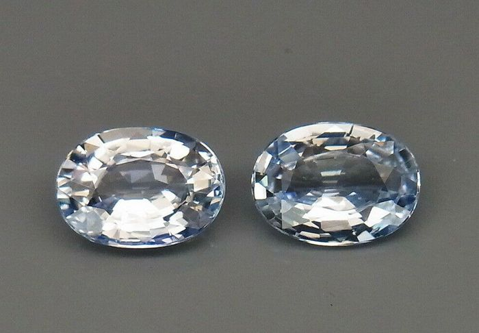 2 pcs  Saffier - 1.90 ct