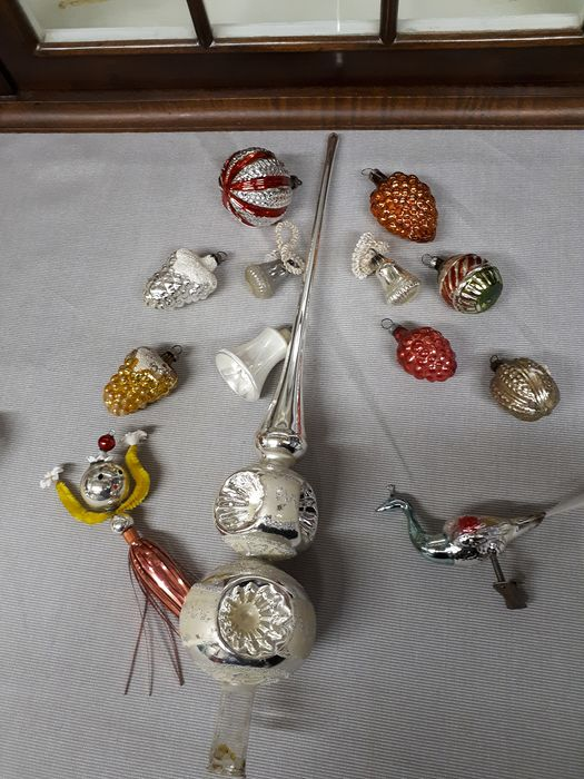 Onbekend - Christmas tree ornaments (10) - Romantic - Glass