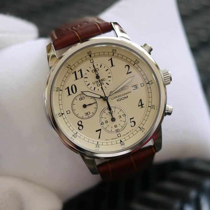"Seiko -  ""NO RESERVE PRICE"" Chronograph, leather strap - SNDC31P1 - Heren - 2011-heden"