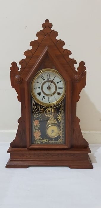 Clock - New Haven - Wood, Brass  - Late 18th century