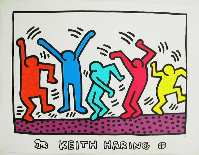 Keith Haring after - Printed in France
