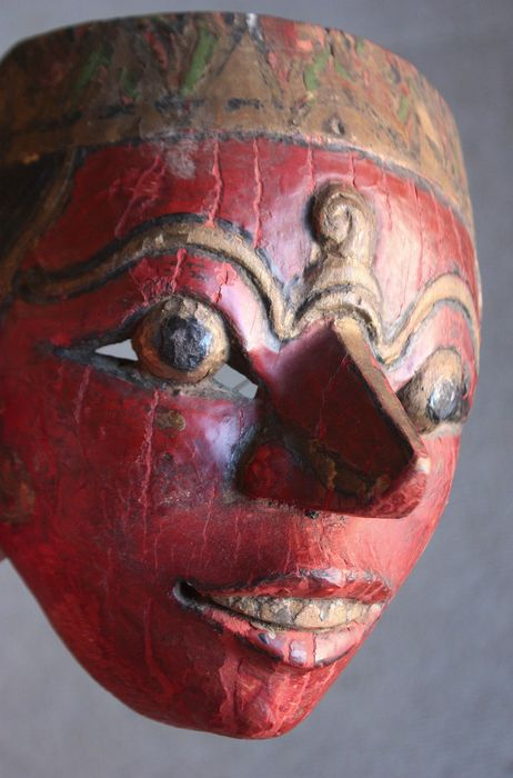Topèng mask (1) - Wood - Java, Indonesia