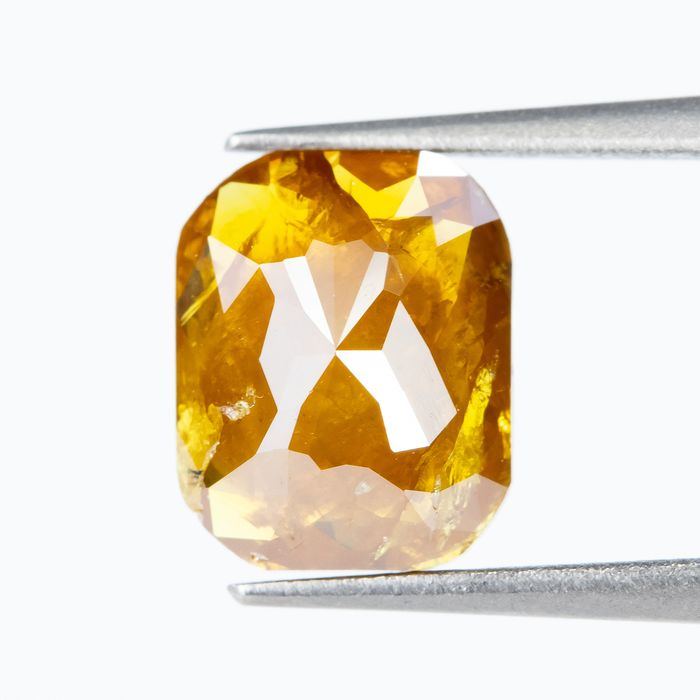Diamond - 1.30 ct - Natural Fancy DEEP Yellowish Brownish Orange - I3  *NO RESERVE*