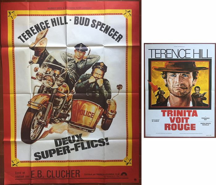 Terence Hill, Bud Spencer - 2 Original french movie posters Deux super-flics / Trinita voit rouge