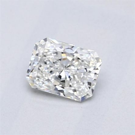 1 pcs Diamant - 0.50 ct - Radiant - F - VVS2