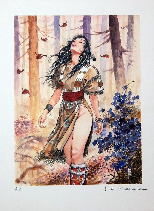 "Milo Manara - lito ""Desirables -3"" - First edition"