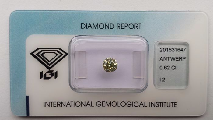 1 pcs Diamond - 0.62 ct - Round - I2