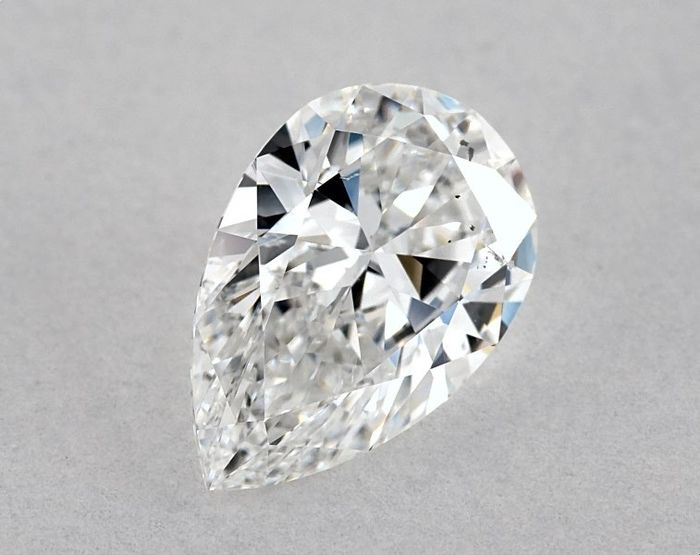 Diamante - 0.92 ct - Brilhante, Pera - E - SI1, * EX/EX * - Low Reserve Price + Free FedEx Shipping