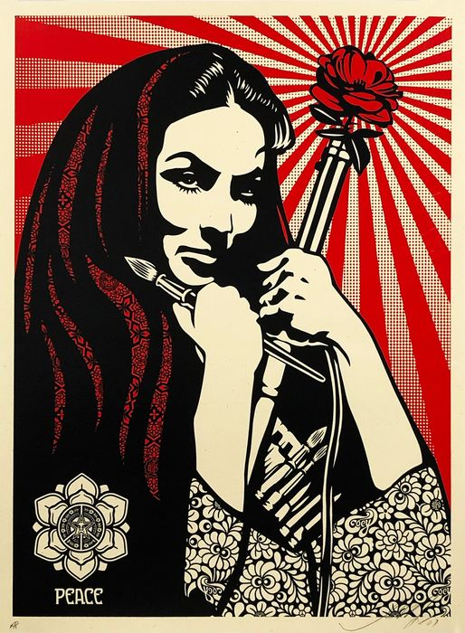 Shepard Fairey (OBEY) - 'Revolutionary Woman with Brush'