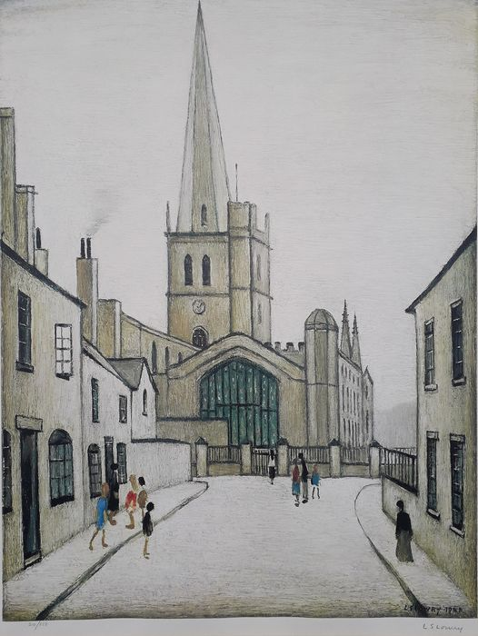 L. S. Lowry - Burford Church - Grove Galleries Publishers