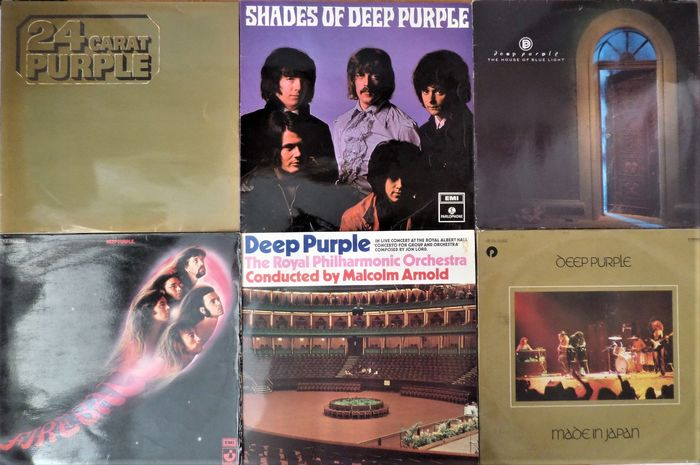 Deep Purple - Lot of six beautiful albums incl. their first album - Multiple titles - LP Album - 1968/1987