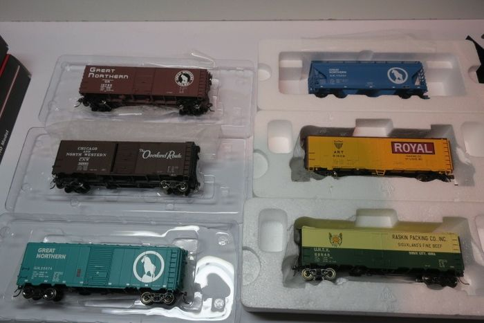Walthers, Inter Mountain Railway H0 - Freight carriage - 6 high quality Inter Mountain cars - US