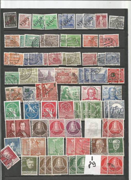 Berlin 1948/1990 - Collection of 682 postmarked stamps from Berlin.