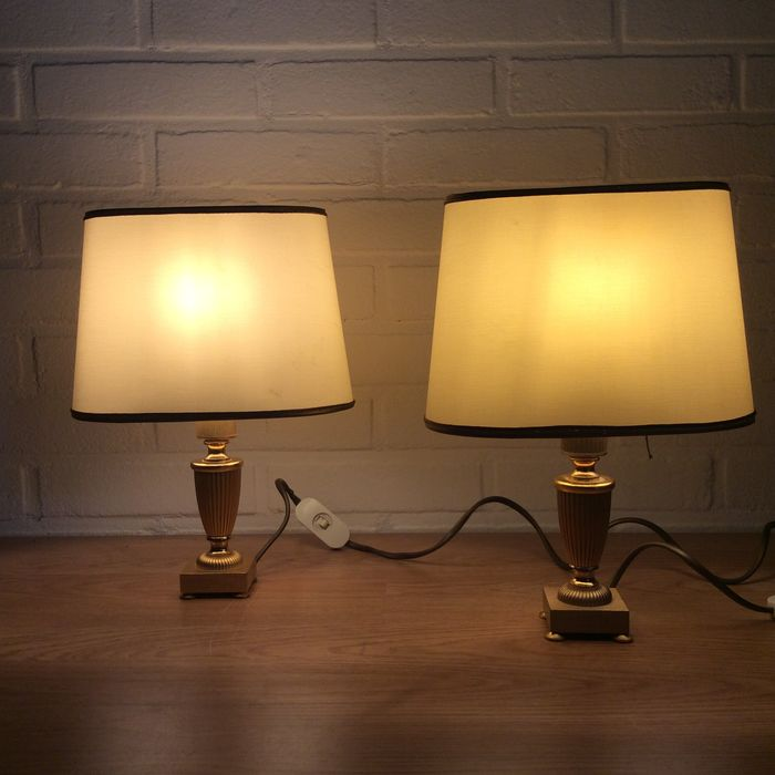 Table Lamps - Neoclassical Style - Copper, Gilt