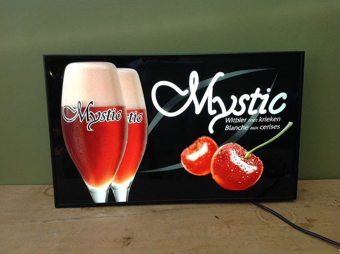 Key Company - Light advertising: Mystic White beer with cherries - hard plastic