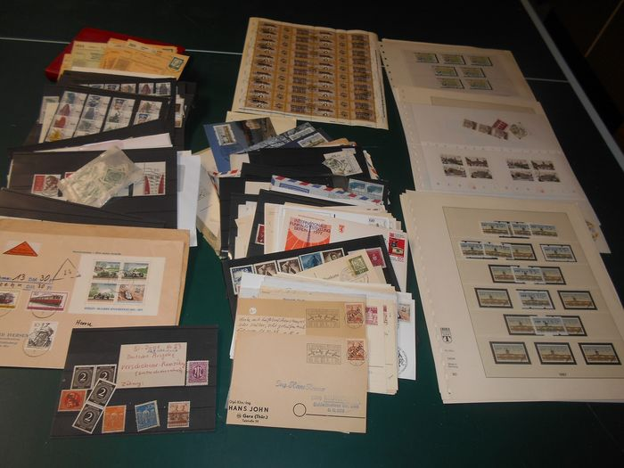 Berlin - plus Federal Republic of Germany - collector's estate with stamps, letters, cards, postal stationery
