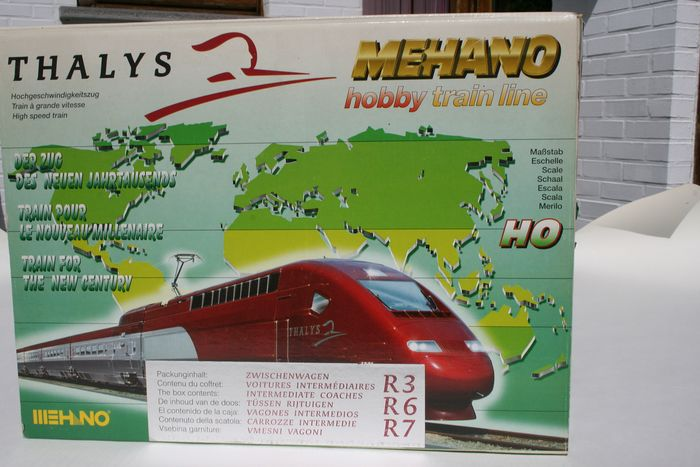 Mehano H0 - Passenger carriage set - 3x between carriages - Thalys International