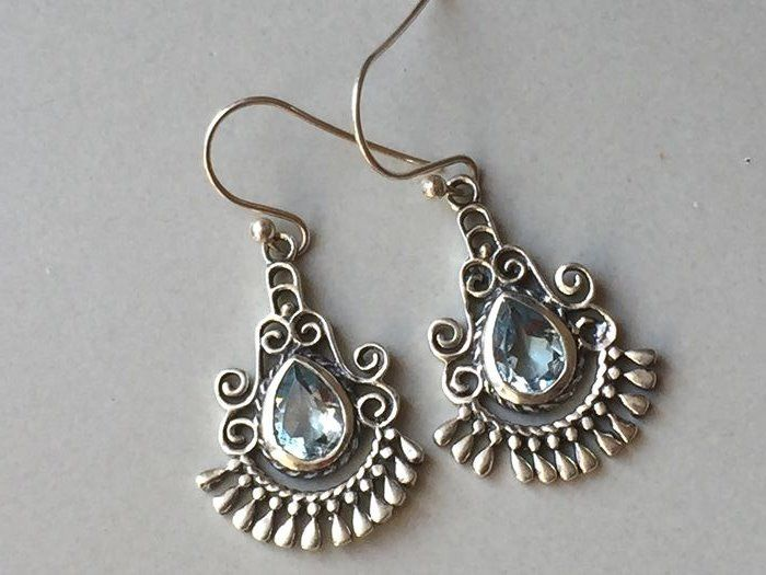 925 Silver - Earrings - Aquamarine