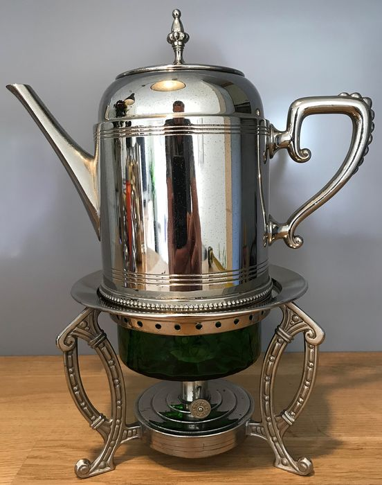 Tiel Holland - Coffee pot on roaster - Art Deco - metal / glass
