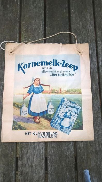 Old advertising bag Buttermilk Milkmaid (1) - Paper, Rope