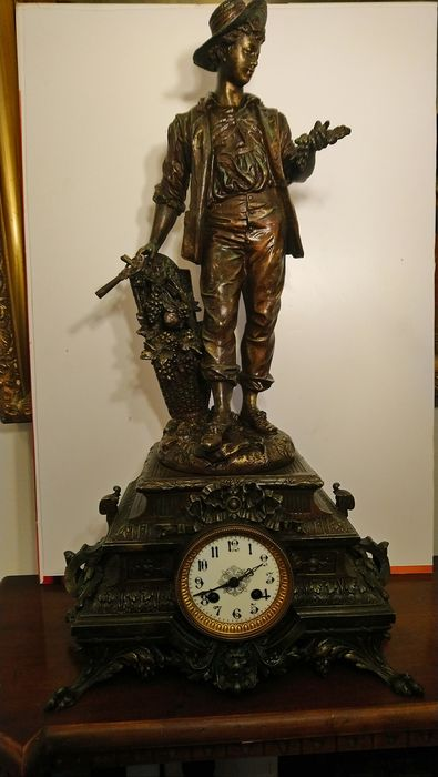 Clock - Zamac - Second half 19th century