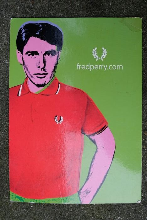 Advertisement Fred Perry - Cardboard