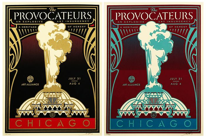 Shepard Fairey (OBEY) - 'The Provocateurs (Chicago)' (Pair)