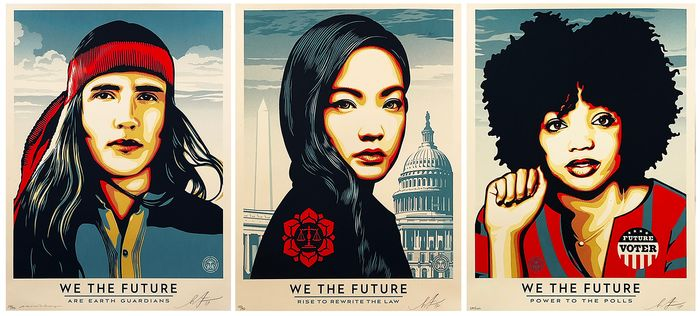Shepard Fairey (OBEY) - 'We The Future' (Matching SET)