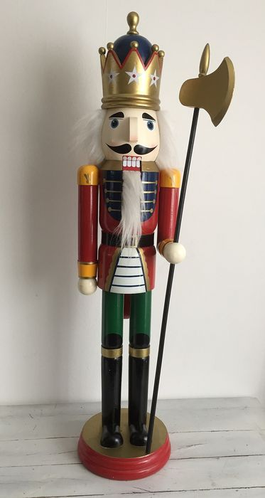 Large (93 cm) nutcracker king wood (1) - Wood